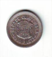 GUATEMALA SILVER COIN 2 Reales KM149 VF 1873 - Guatemala