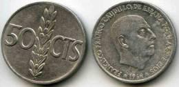 Espagne Spain 50 Centimos 1966 *68 KM 795 - [ 5] 1949-… : Royaume