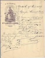 Facture Lettre 1889 LAMPSIN & LEMIRE à YVETOT (76) - Francia