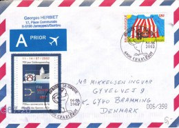 Belgium Cover With Europa CEPT Cirque Stamp Posted Charleroi (G67-26) - Belgium