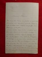 LETTRE AUTOGRAPHE ERNEST DE ROZIERE 1862 - Autographs