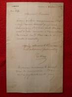 SAINT FLOUR LETTRE AU REDACTEUR JOURNAL FLEAU INSECTES NUISIBLES 1849 - Documents Historiques