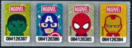 MARVEL STICKER - COMLETE SET OF 4 - TESCO LOTUS EXPRESS, THAILAND - MINT ** - Stickers