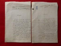 LETTRE AUTOGRAPHE MARQUIS DE LASTIC St JAL 1866 GENEALOGIE SAINT FLOUR - Documents Historiques