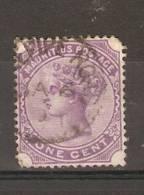 MAURITIUS - 1879 QUEEN VICTORIA 1c VIOLET FU   SG 124 - Mauritius (1968-...)