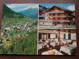 """Hotel """" SONNENHOF """" Restaurant Bar ( Fam. Ph. Andenmatten-Zurbriggen ) Herzen Von Saas-Fee / Zie Foto Voor Details ) !! - Hotels & Gaststätten"""