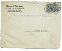 FAÇADE ENVELOPPE: Richard Beckers Berlin Pour  Reims 1922 - Deutschland