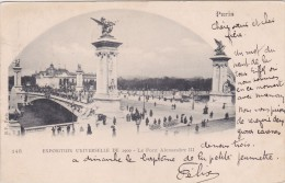 Cp , 75 , PARIS , Exposition Universelle De 1900 , Le Pont Alexandre III - Expositions