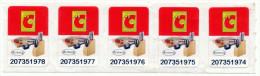 Big C / ARZBERG STICKER - STRIP OF 5 -  Big C THAILAND - MINT ** - Stickers