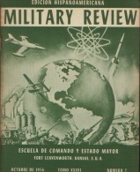 MILITARY REVIEW EDICION HISPANOAMERICANA OCTUBRE 1956 - Spanish
