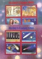 1151 Space Astronomy Halley 1986 Montserrat 2S/s MNH 14ME ** - Space