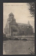 DF / 84 VAUCLUSE / LE THOR / L' EGLISE ET LE PONT SUR LA SORGUE / CIRCULÉE EN 1915 - France