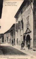 Cpa TAULIGNAN, Drôme, L'hôtel De Ville, Cycliste, Enfants    (39.89) - Autres Communes