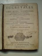 GREGORII PAPE IX : Decretales Tomus Secondus - Books, Magazines, Comics