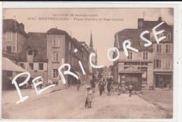 25  Montbeliard  Place Velotte Et Rue Cuvier - Montbéliard