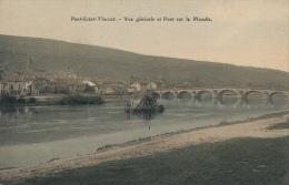 ( CPA 54 )  PONT-SAINT-VINCENT /  Vue Générale Et Pont Sur La Moselle  - - Unclassified