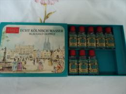 """MUELHENS  N° 4711  BOITE  DE 7 MINIS EDC  """" KOLNISH WASSER""""  ORIGINALE EAU DE COLOGNE  LIRE & VOIR!!! - Miniatures Modernes (à Partir De 1961)"""