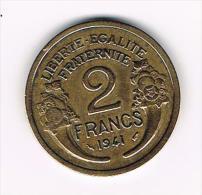 ¨ FRANKRIJK  2  FRANCS 1941 - France