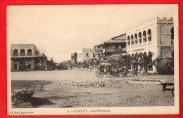 CPA: Djibouti - Rue D'Abyssinie - Gibuti