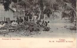 Congo - Preparation Du Cacao - Congo - Brazzaville