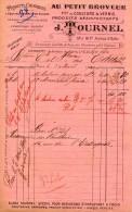 Ets TOURNEL, PARIS - AU PETIT BROYEUR - Fabrique De Couleurs Et Vernis - Facture Du 5 Avril 1900 - 1900 – 1949