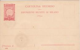 Cartolina Ricordo Esposizioni Riunite Di Milano 1894 - Esposizioni