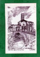 Rieux-Volvestre - Rieux église Et Pont Sur L´Arize (Yves Ducourtioux 1990) - Frankrijk