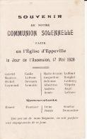 80 EPPEVILLE, Souvenir Communion  17 Mai 1928 , Liste Des Communiants ( 2 Scans ) - Devotion Images
