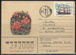 RUSSIA USSR 0123 Cover Postal History Transportation Ships Flowers ESTONIA Elva Cancellation - 1923-1991 URSS