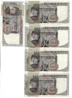 10000 Lire Del Castagno Serie Completa 1976-1978-1980-1982-1984 LOTTO 838 - [ 2] 1946-… : Républic