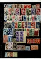 2 Pages Années 1900/1950 Séries Neuves Et Divers, Page Album Avec Doubles Oblitérés, - Collections