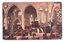 ST. MARY'S PARISH CHURCH CHELTENHAM Gloucestershire Raphael Tuck Series 7690 USED 1907 Art Drawn Artist F VON KAMPTZ - Cheltenham