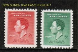 NEW GUINEA   Scott  # 48-51*  VF MINT LH - Papouasie-Nouvelle-Guinée