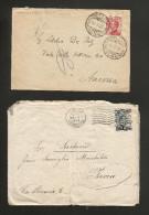 REGNO D' ITALIA - LOTTO Di 2 BUSTE AFFRANCATE (1915 / 1925) - TORINO / VALLE D'AOSTA - 1900-44 Vittorio Emanuele III