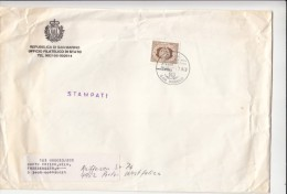 STAMPS ON COVER, NICE FRANKING, 1983, SAN MARINO - Lettres & Documents