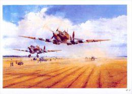 AIRPLANES  IN ART /  TAYLOR    -  ST CROIX SUR MER / Postcard Unused   ( M 39 ) - 1939-1945: 2. Weltkrieg