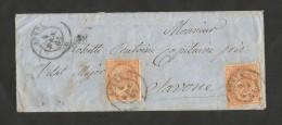 REGNO D' ITALIA - BUSTA AFFRANCATA (1865) - 10 CENT. / Da AOSTA - 1861-78 Vittorio Emanuele II