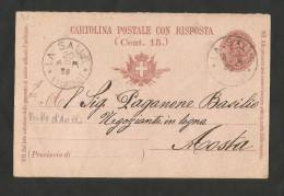 REGNO D' ITALIA - LOTTO 2 CARTOLINE POSTALI (1899 / 1900) - VALLE D' AOSTA - Italia