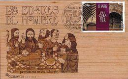 Spain 2014 - LAS EDADES DEL HOMBRE. Eucharistia  (ESPECIAL: 1er. Sobre De Madera) - 2011-... Nuevos & Fijasellos