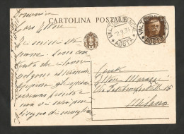 REGNO D' ITALIA - CARTOLINA POSTALE (1934) / Da VALTOURNANCHE (AO) - Entero Postal