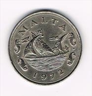 ¨  MALTA  10 CENTS 1972 - Malte