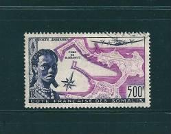 Cote Francaise Des Somalis Poste Aérienne N°25 Oblitéré (cote 68€) - Oblitérés
