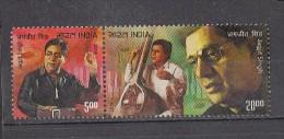 INDIA, 2014, Jagjit Singh, Singer, Ghazal, Music, Setenant Pair, MNH, (**) - Musica