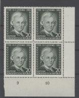 DDR Michel No. 423 Y II ** postfrisch Viererblock Eckrand