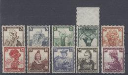 Deutsches Reich Michel No. 588 - 597 ** postfrisch