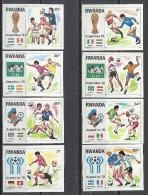 Rwanda 1978 Mi 944-951 FOOTBALL WORLD CUP ARGENTINA 78 842-849 ND Fussballweltmeisterschaft Geschnitten IMPERFORATED - Rwanda