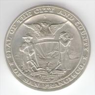 U.S.A. SILVER MEDAL - SAN FRANCISCO CABLE CAR CENTTENNIAL (1873 / 1973) U.S. Mint ISSUED - Professionali/Di Società