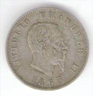 REGNO D' ITALIA - VITTORIO EMANUELE II - 1 LIRA ( 1863 - Zecca: Milano ) / Ag - Silver - 1861-1946 : Regno