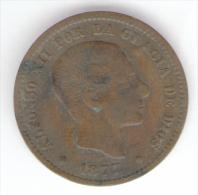 SPAGNA 5 CENTIMOS 1877 - [ 1] …-1931 : Regno