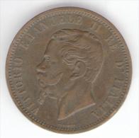 REGNO D'ITALIA - 10 CENTESIMI (1866) VITTORIO EMANUELE II (Z. MILANO) - 1861-1946 : Regno